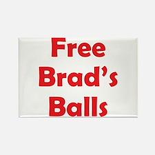 Free Brad's Balls Rectangle Magnet