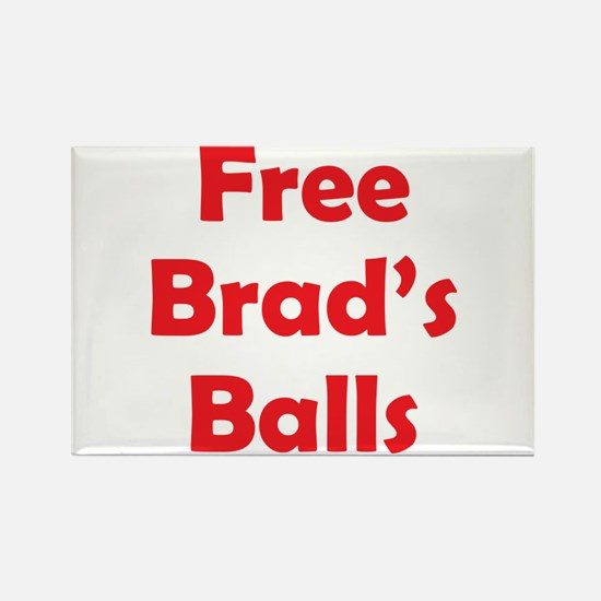 Free Brad's Balls Rectangle Magnet