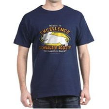 The Secret to Schnauzer Agility Dark T Shirt