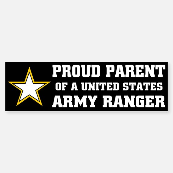 PROUD PARENT - ARMY RANGER Bumper Bumper Bumper Sticker