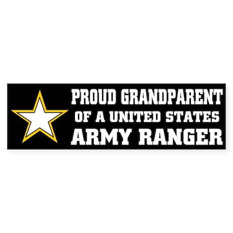 PROUD GRANDPARENT - ARMY RANGER Bumper Sticker