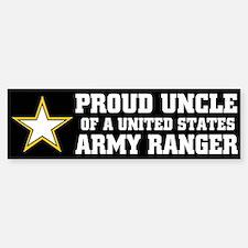 PROUD UNCLE - ARMY RANGER Bumper Car Car Sticker