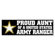 PROUD Aunt - ARMY RANGER Bumper Bumper Sticker