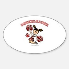 TJHS Cheerleader Oval Decal