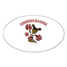 TJHS Cheerleader Oval Decal
