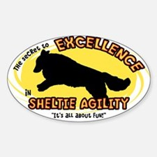 The Secret to Sheltie Agility Oval Decal