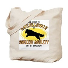 The Secret to Sheltie Agility Tote Bag