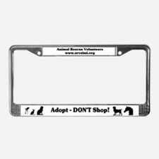Cute Rescued horse License Plate Frame