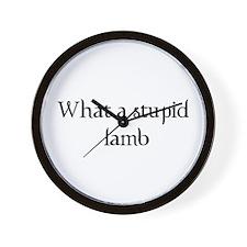 What a Stupid Lamb Wall Clock