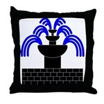 Fontaine Dans Sable Throw Pillow