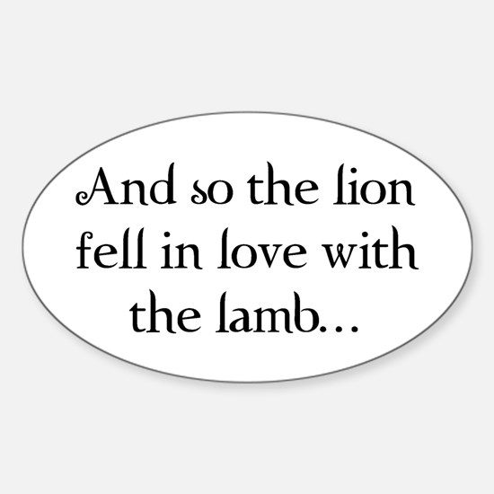 Lion & Lamb Oval Decal