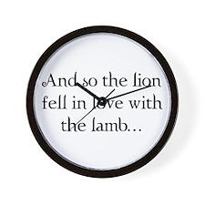 Lion & Lamb Wall Clock