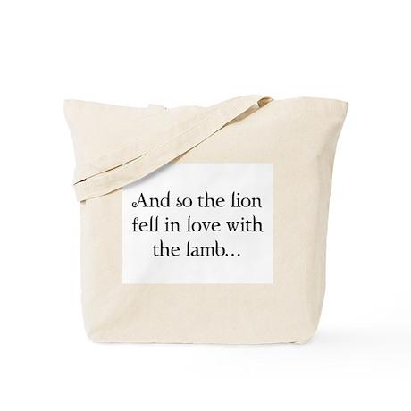 Lion & Lamb Tote Bag