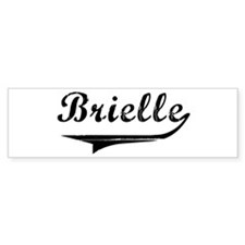BRIELLE (vintage) Bumper Bumper Sticker