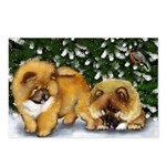CHOW CHOW DOGS CHRISTMAS Postcards (Package of 8)
