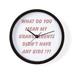 Grandparents Wall Clock