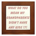 Grandparents Framed Tile
