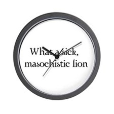 Masochistic Lion Wall Clock