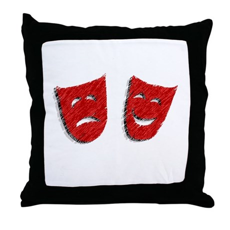 Comedy & Tragedy Throw Pillow