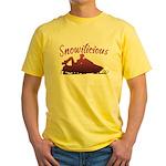 Snowilicious Snowmobile Yellow T-Shirt