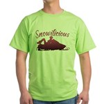 Snowilicious Snowmobile Green T-Shirt