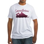 Snowilicious Snowmobile Fitted T-Shirt