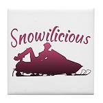 Snowilicious Snowmobile Tile Coaster