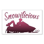 Snowilicious Snowmobile Rectangle Sticker