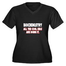 """Biochemistry...Cool Kids"" Women's Plus Size V-Nec"