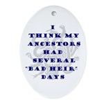 Genealogy Heirs Oval Ornament