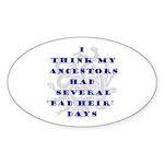 Genealogy Heirs Oval Sticker