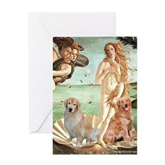 Venus / Two Golden Retrievers Greeting Card