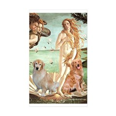 Venus / Two Golden Retrievers Decal