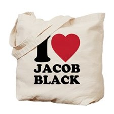 I Love Jacob Black Tote Bag