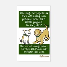 Sixty Thousand Dogs - Spay Neuter Bumper Stickers