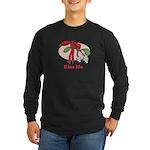 Kiss Me Long Sleeve Dark T-Shirt