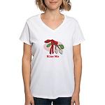Kiss Me Women's V-Neck T-Shirt