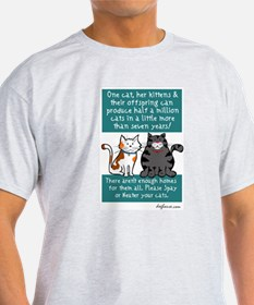 Half a Million Cats - Spay Neuter T-Shirt