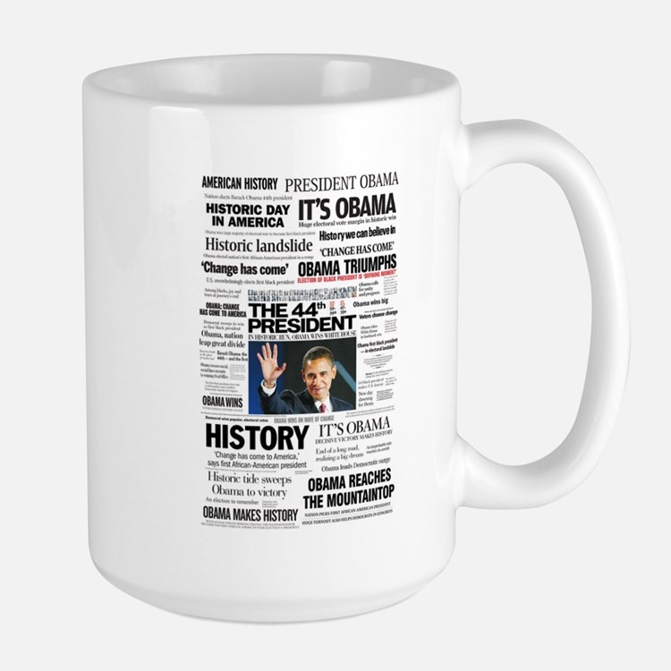 Obama: The 44th President Hea Large Mug