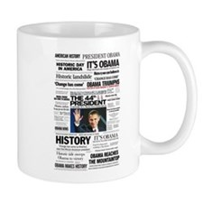 Obama: The 44th President Hea Small Mug