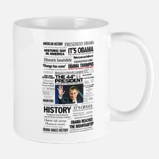 Obama: The 44th President Hea Small Small Mug