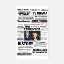 Obama: The 44th President Hea Rectangle Decal