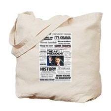 Obama: The 44th President Hea Tote Bag