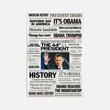 Obama: The 44th President Hea Rectangle Magnet