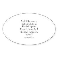 MATTHEW 12:26 Oval Decal