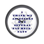 Genealogy Heirs Wall Clock