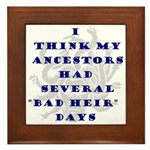 Genealogy Heirs Framed Tile