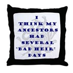 Genealogy Heirs Throw Pillow