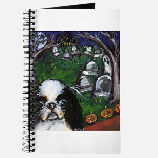 JAPANESE CHIN halloween grave Journal