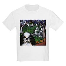 JAPANESE CHIN halloween grave Kids T-Shirt